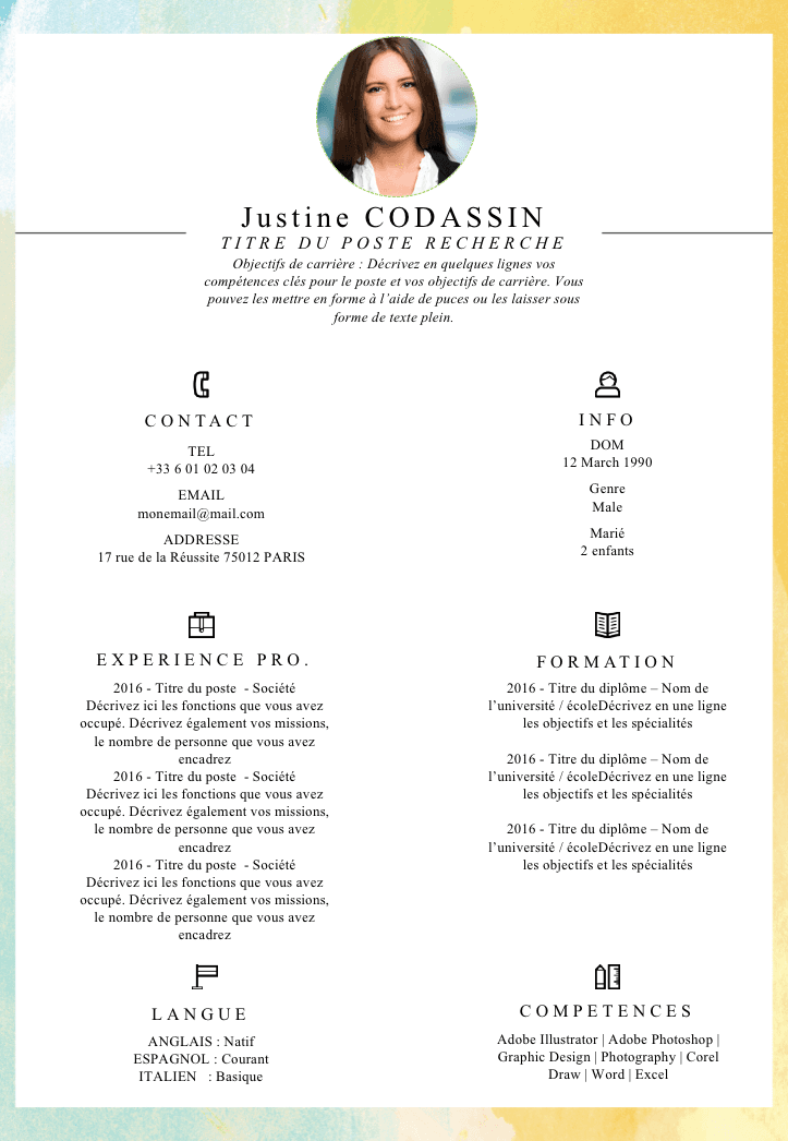 comment faire un cv original via word