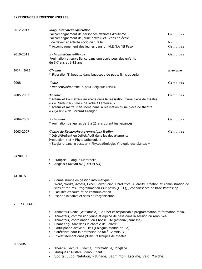 forem faire son cv