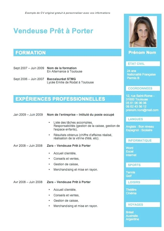 faire un cv original gratuit avec photo