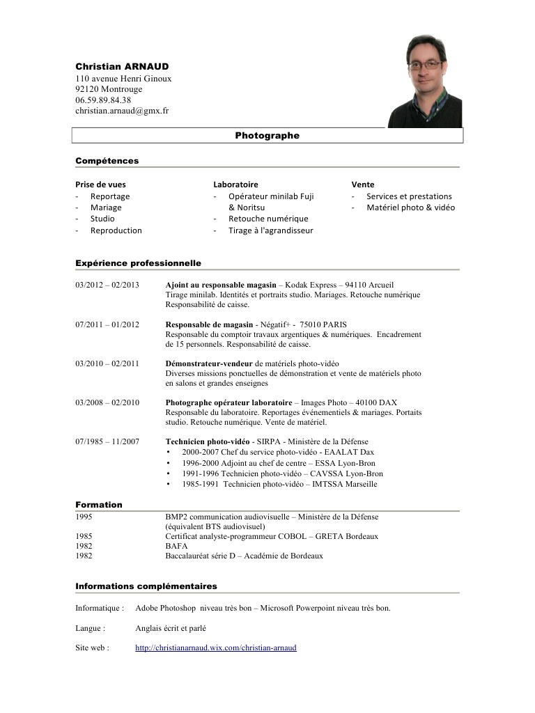 niveau langue cv courant
