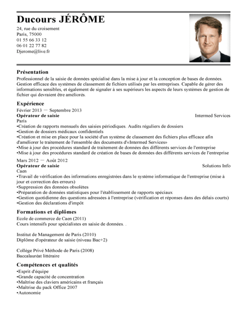 application pour rediger un cv