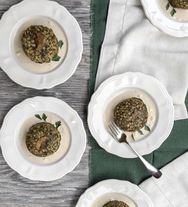 Baked Green Barley and Kale