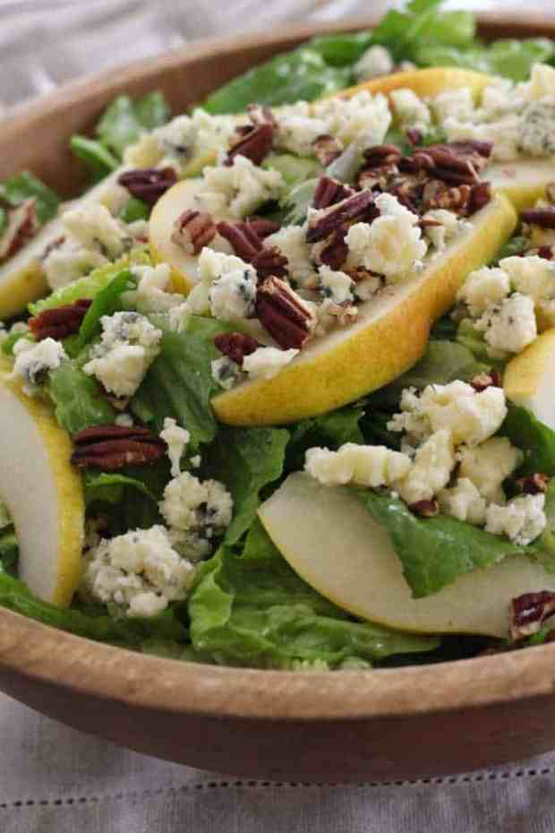 Make this romaine salad with pears, blue cheese and pecans—when the ...