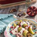 Lentil Chiles Rellenos with Creamy Walnut Sauce – vegetarian Chiles en Nogadas