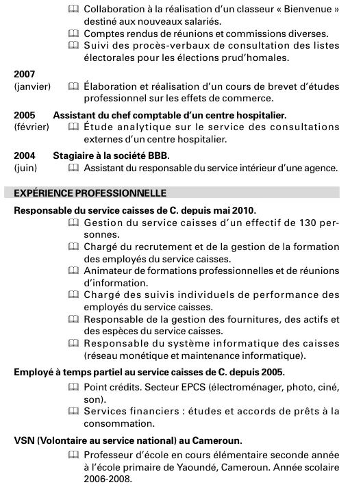 cv etudiant stage ressources humaines