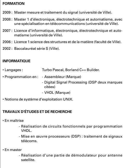 cv comment presenter ses langages informatiques