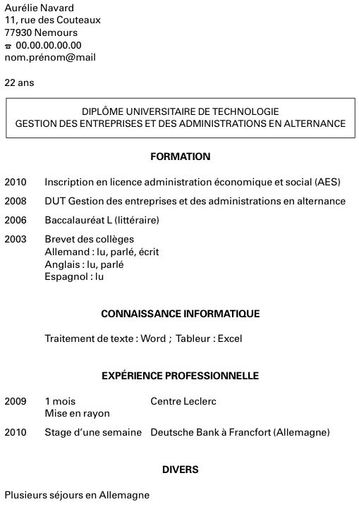 lettre motivation et cv premier job ete