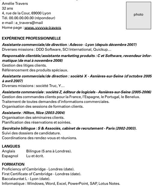 comment noter interim dans cv