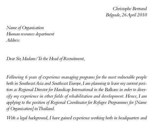 exemple de mail en anglais pour envoyer un cv