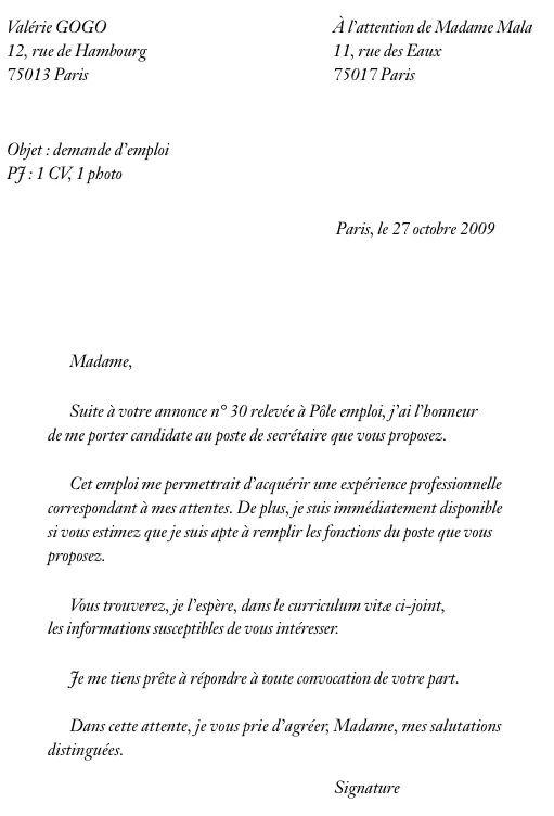cv et lettre de motivation pole emploi pdf