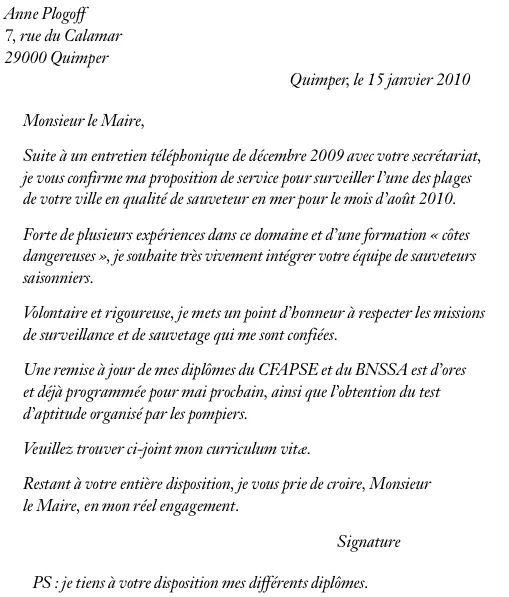 exemple de cv supermarche
