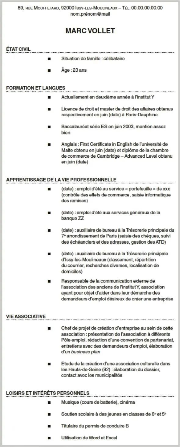engagement associatif etudiant cv