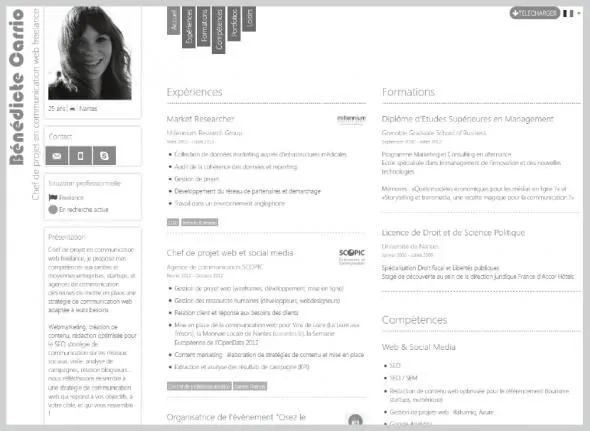 exemple cv chef de projet web