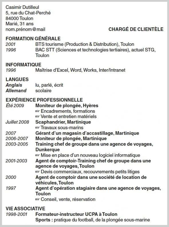 profile cv informatique