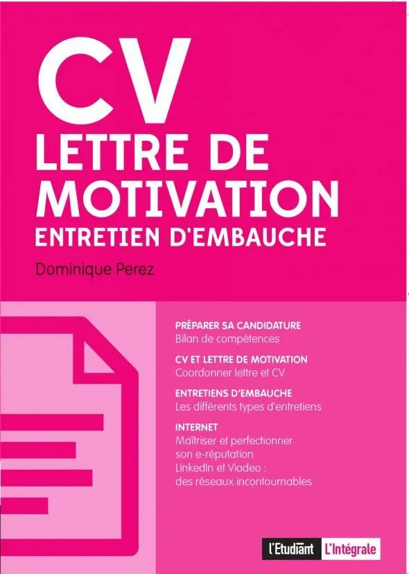 integrer cv lettre de motivation