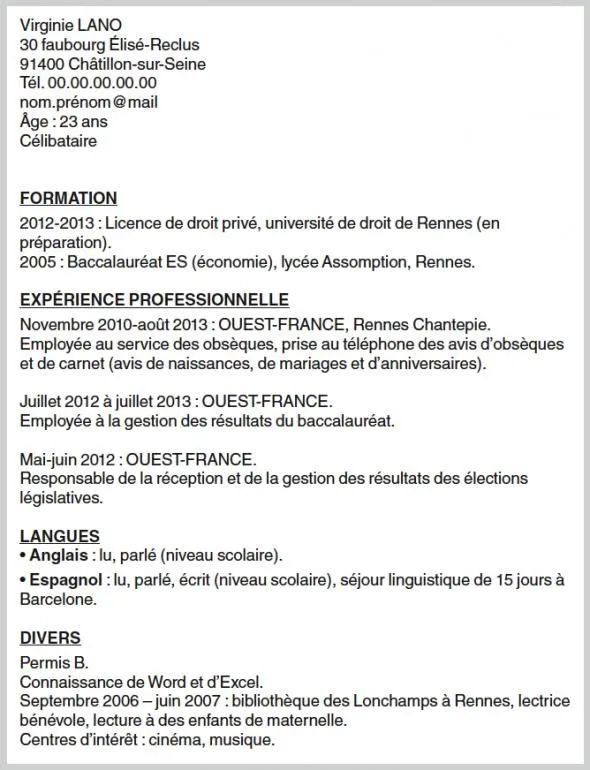 presenter ses competences sur cv