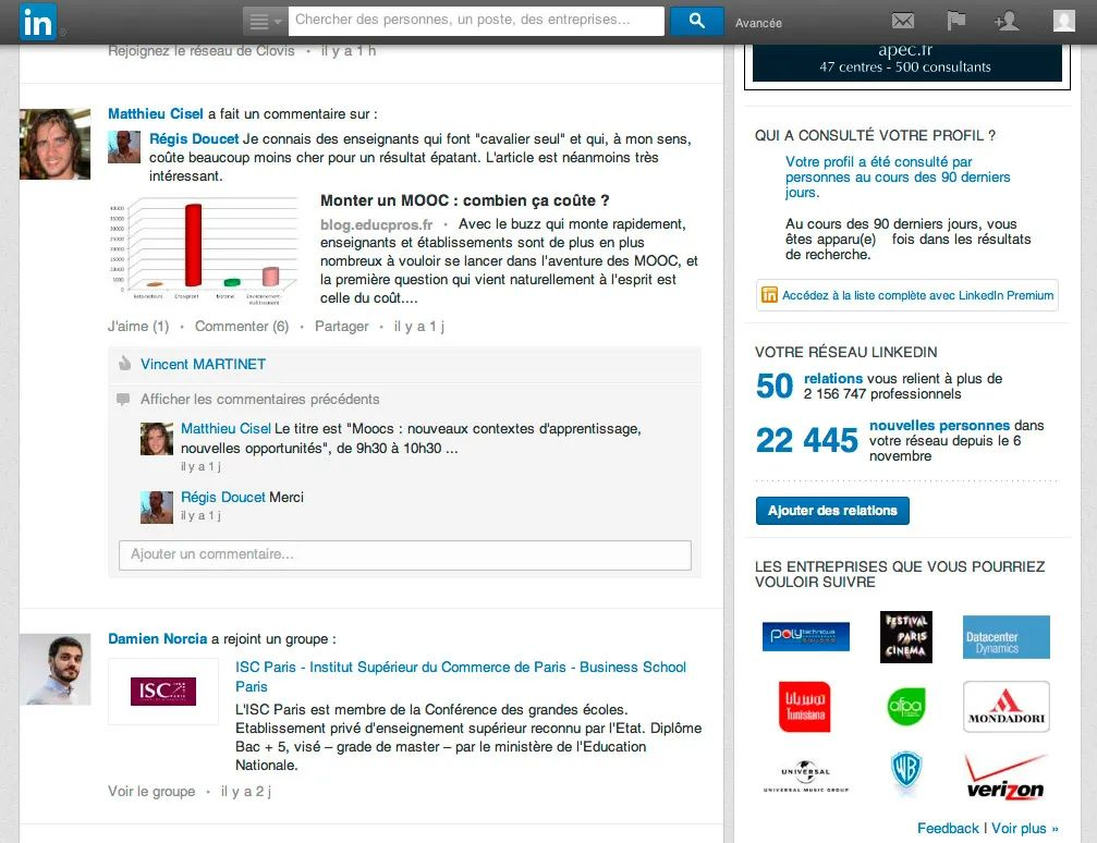 faire un cv via linkedin