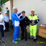 I vigili volontari vengono premiati
