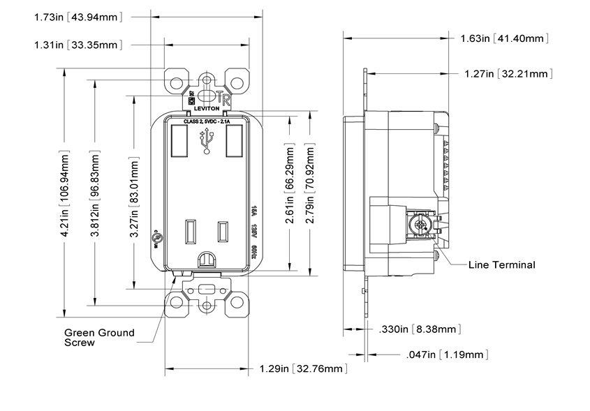 Wiring Electrical Outlet Dimensions Wiring Diagram Automotive