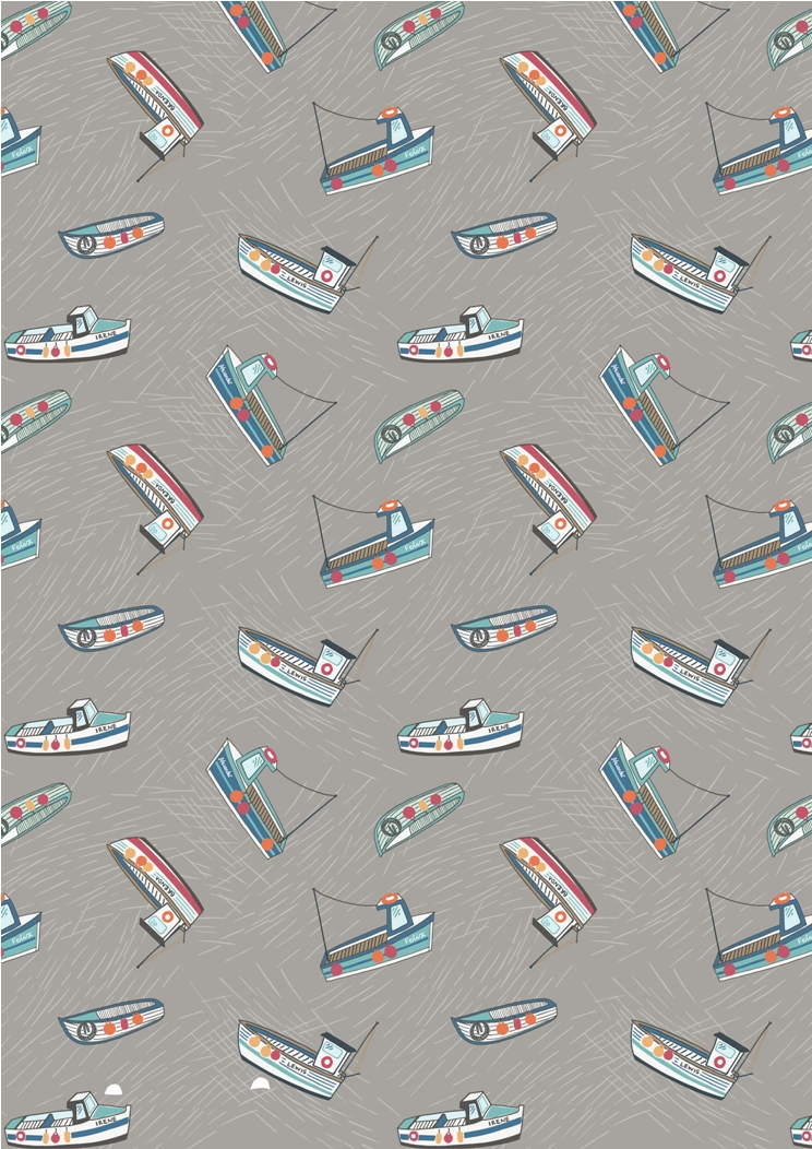 A178.1 - Fishing boats on grey