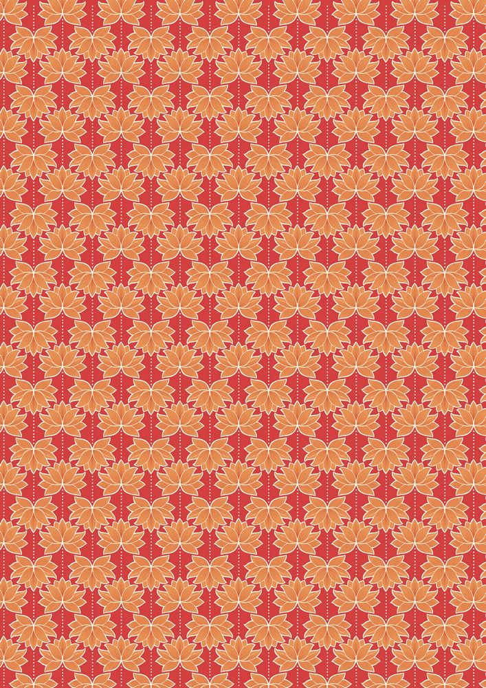 A119.2 - Orange lotus flower