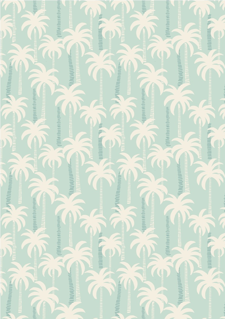 A132.1 - Palm trees on blue