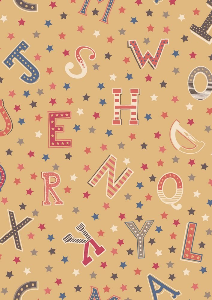 A143.2 - Vintage letters antique gold