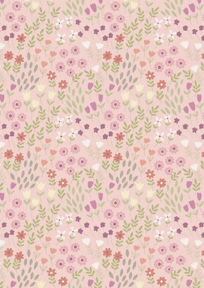 A147.2 - Pretty flowers on pink