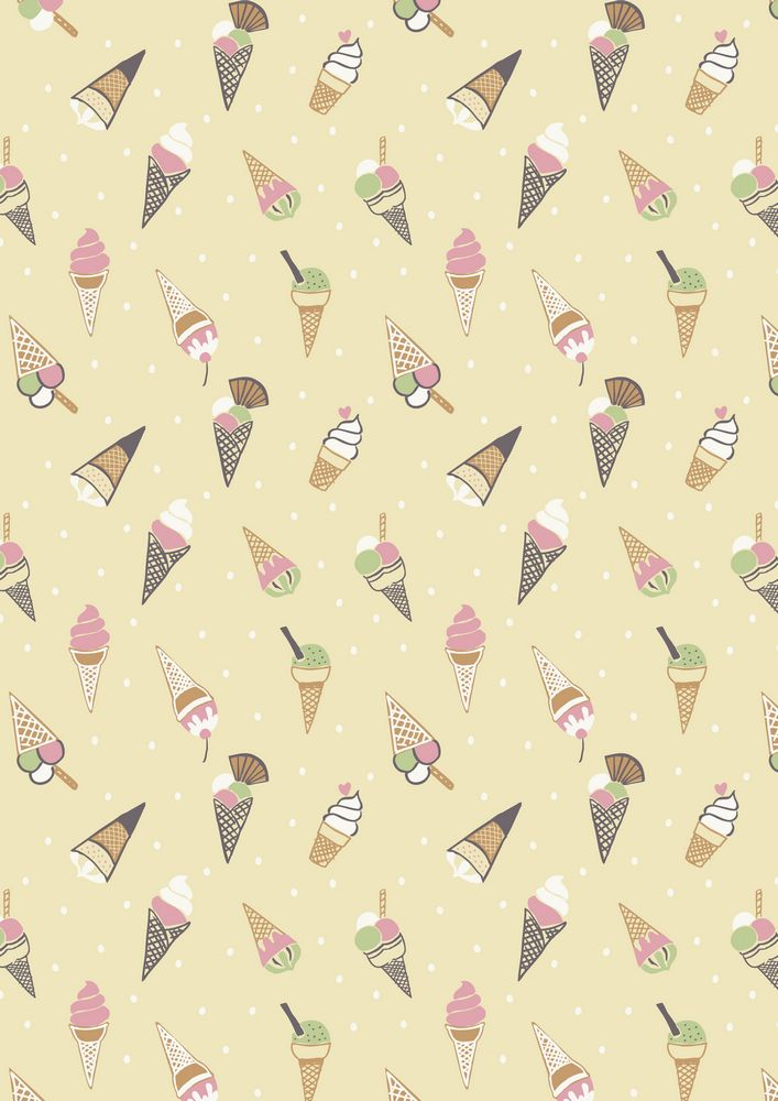A154.2 - Ice cream cones on yellow