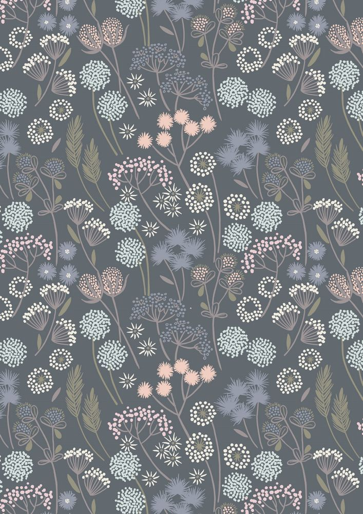 A57.6 - Hedgerow flowers on grey