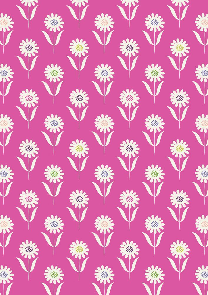 A83.3 - Daisies on hot pink