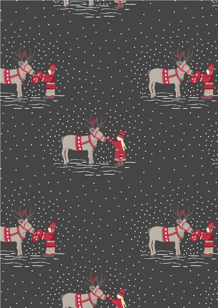 C7.1 - Meeting santas reindeer on dark grey