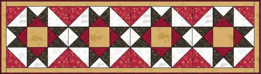 Make a christmas wish table runner and mat design 1