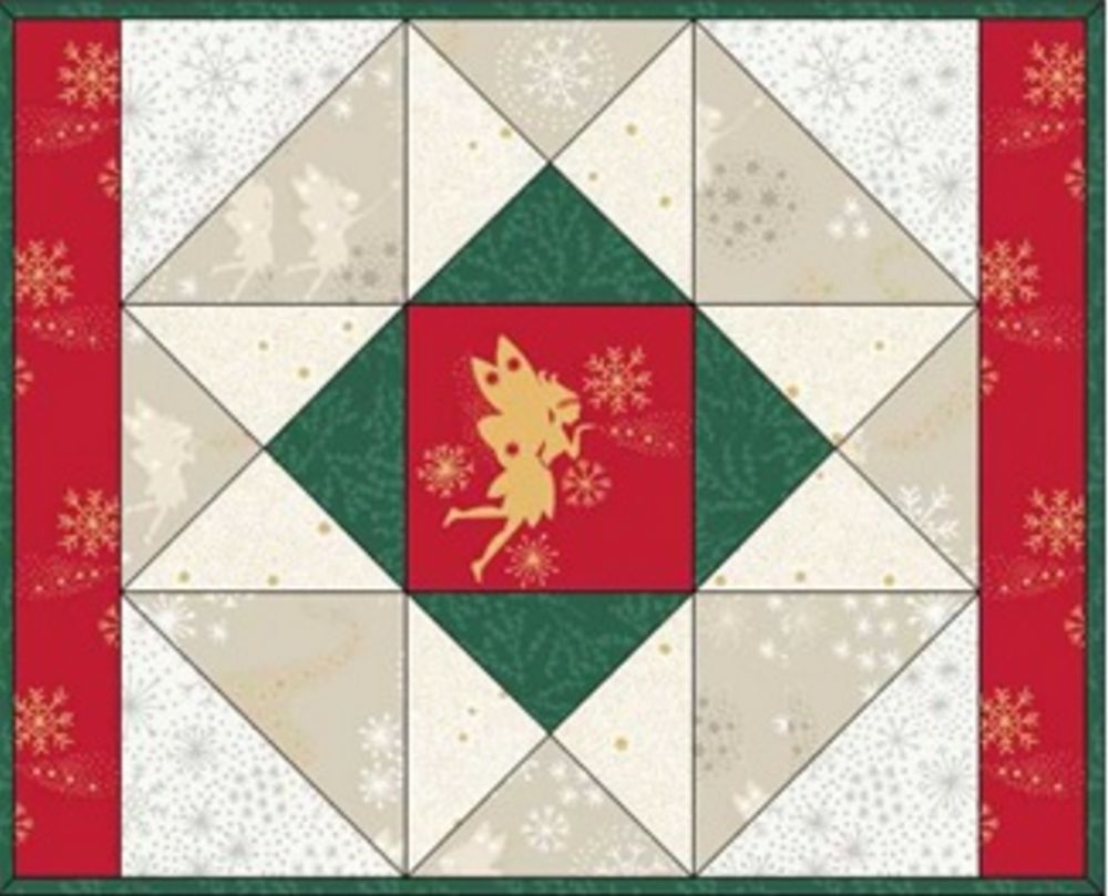 Make a christmas wish table runner and mat design 2