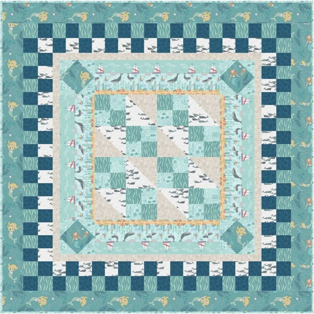 Tales of the sea quilt design 3