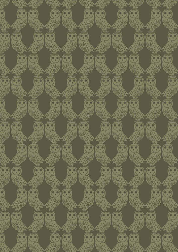 A189.2 - Owls on forest green