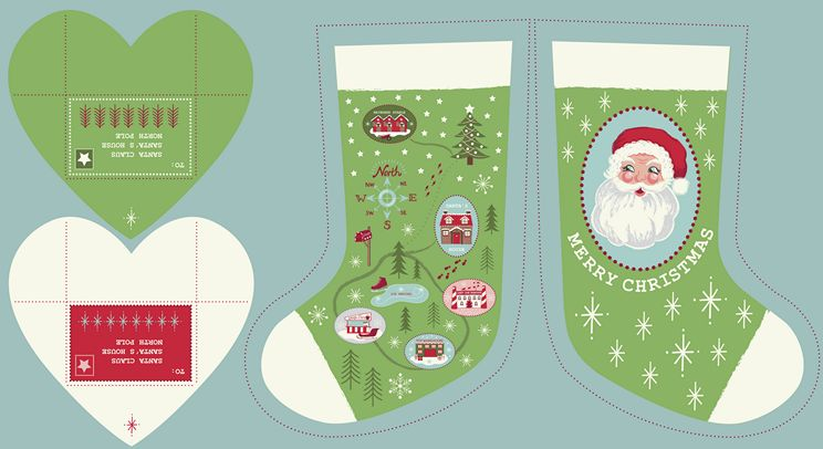 C22.2 - Green North Pole Stockings
