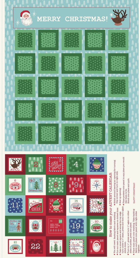 C24.1 - North Pole Advent Calendar on ice blue