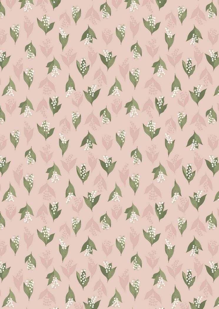 FLO11.1 - Lily of the Valley on blush pink