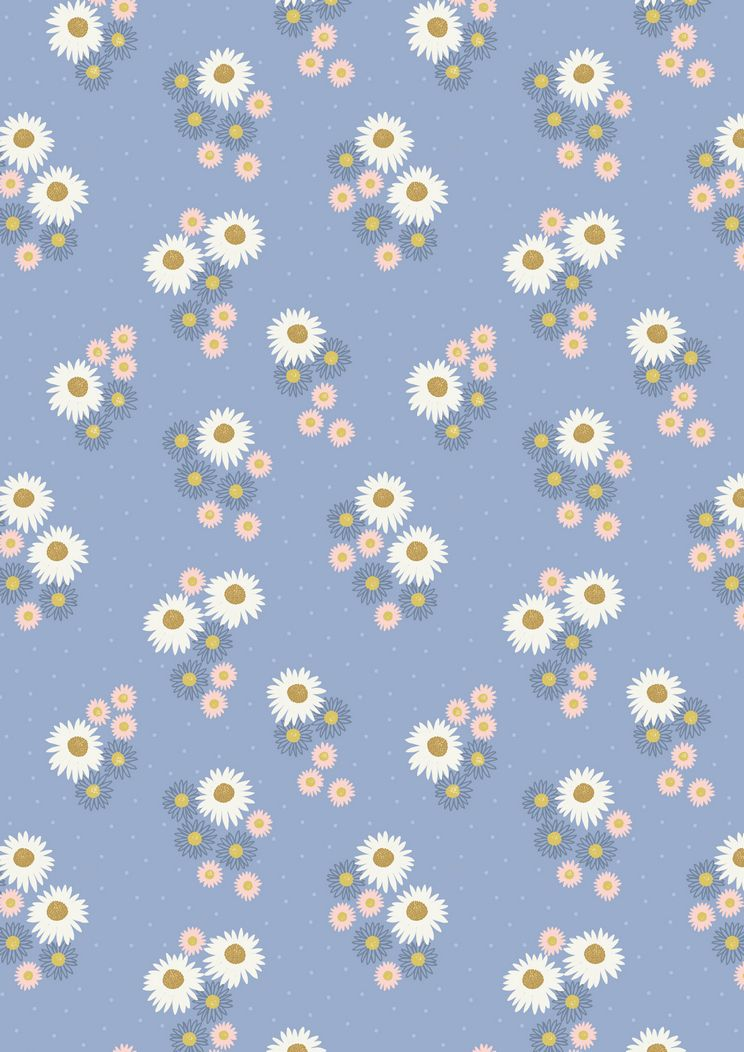 FLO12.2 - Daisies on blue
