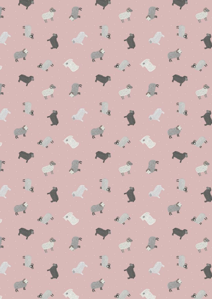 SM5.1 - Sheep on blush pink