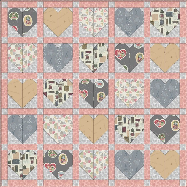 Threaded with love quilt design 3