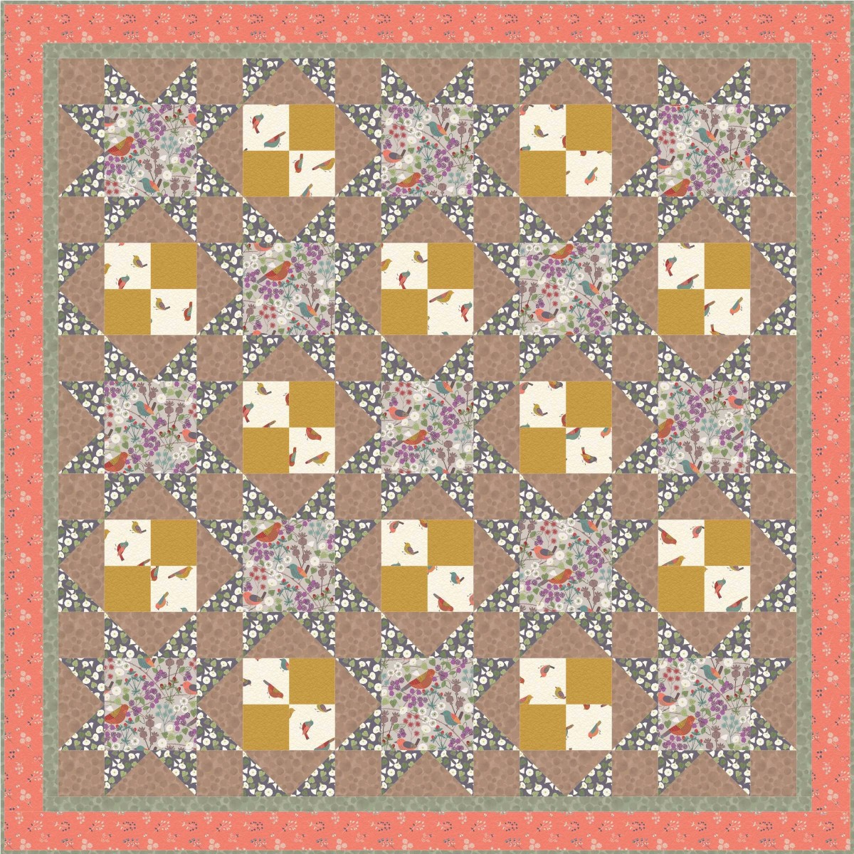 The Hedgerow Quilt Design 1