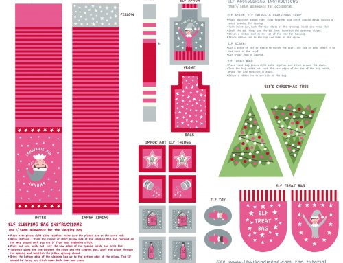Christmas Glow Elf Accessories Instructions