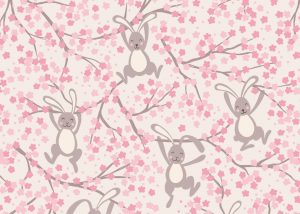 A526.1 - Swinging bunnies on cream