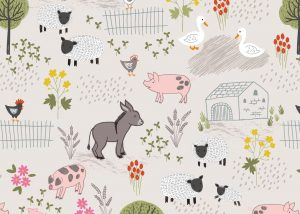 A531.1 - Farmyard on dark cream
