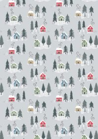 C36.1 - Snow day houses on silver