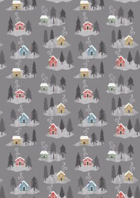 C36.3 - Snow day houses on grey