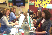 Painting fun at Pinot's Palette!