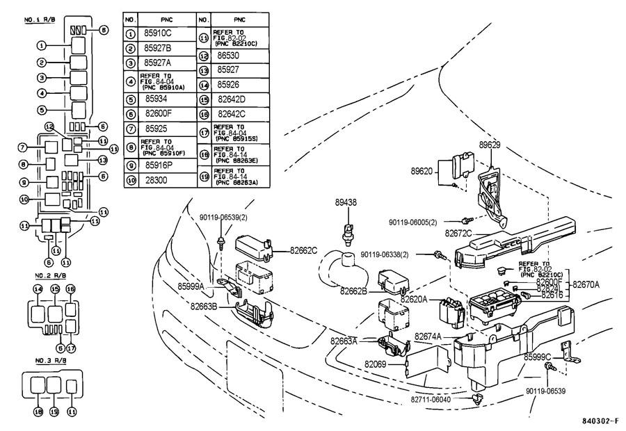 1997 lexus es300 clock fuse location